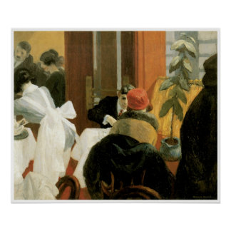 New York Restaurant c. 1922, Edward Hopper Poster