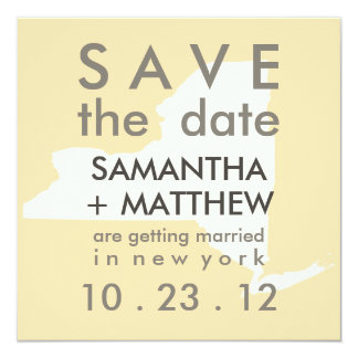 New York Save the Date Cards 13 Cm X 13 Cm Square Invitation Card