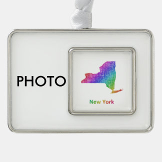 New York Silver Plated Framed Ornament