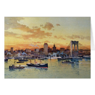 NEW YORK SKYLINE 1896 CARD