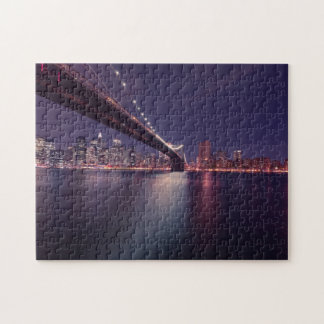 New York Skyline at Night Jigsaw Puzzle