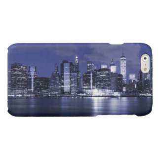 New York Skyline Bathed in Blue