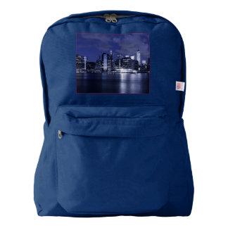 New York Skyline Bathed in Blue Backpack