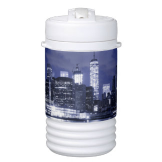 New York Skyline Bathed in Blue Cooler