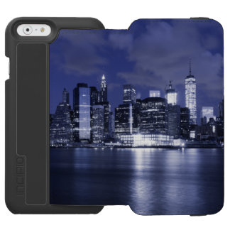 New York Skyline Bathed in Blue Incipio Watson™ iPhone 6 Wallet Case