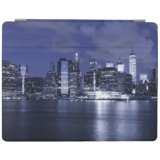 New York Skyline Bathed in Blue iPad Cover