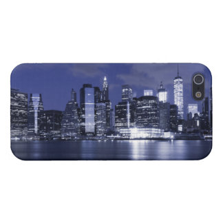 New York Skyline Bathed in Blue iPhone 5 Covers