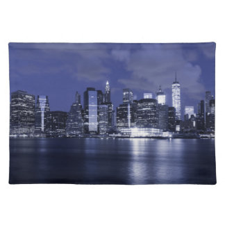 New York Skyline Bathed in Blue Placemat