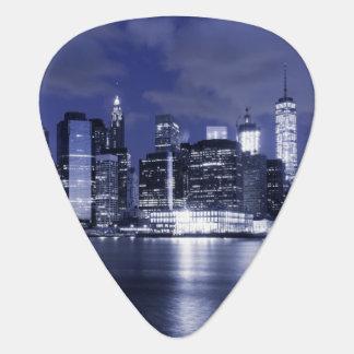 New York Skyline Bathed in Blue Plectrum