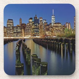 New York skyline Beverage Coaster
