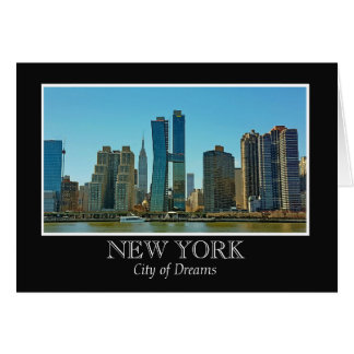 New York Skyline Black White Frame Photo Card