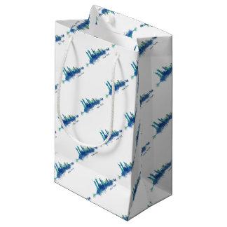 New York Skyline blue Watercolor v05 Small Gift Bag