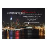 New York Skyline by Night Invitation