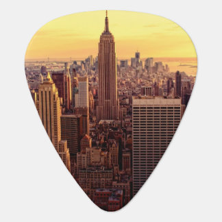 New York skyline city with Empire State Guitar Pick