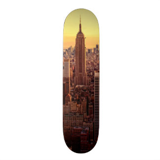 New York skyline city with Empire State Custom Skate Board