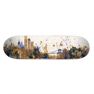 New York Skyline Custom Skate Board