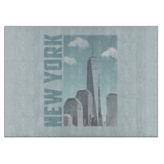 New York Skyline Cutting Board
