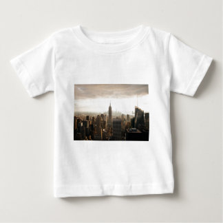 New York Skyline - dusk - grey Baby T-Shirt