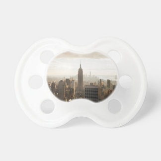 New York Skyline - dusk - grey Pacifier