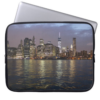 New York skyline in the evening Computer Sleeves
