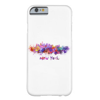 New York skyline in watercolor Barely There iPhone 6 Case