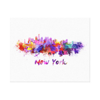 New York skyline in watercolor Canvas Print