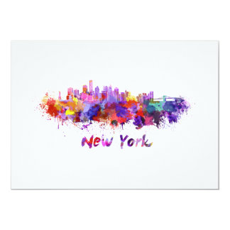 New York skyline in watercolor Card