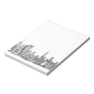 New York skyline ink notepad small