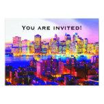 New York Skyline Invitation 13 Cm X 18 Cm Invitation Card