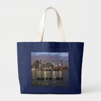 New York skyline Large Tote Bag