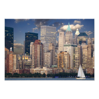 New York Skyline Manhattan Hudson Art Photo