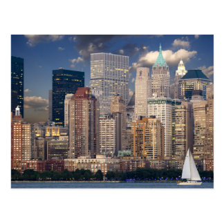 New York Skyline Manhattan Hudson Postcard