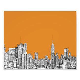 New York skyline orange Photo Art