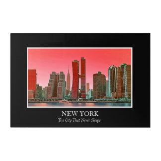 New York Skyline Photograph Frame Personalize Acrylic Print