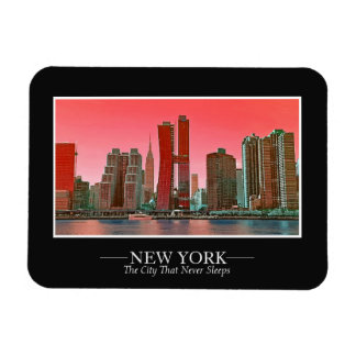 New York Skyline Photograph Frame Personalize Magnet