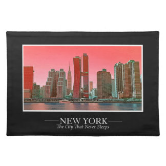 New York Skyline Photograph Frame Personalize Placemat