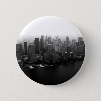 New York Skyline Pinback Button