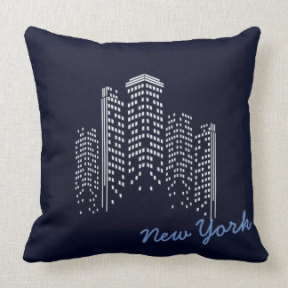 New York Skyline Polyester Pillow