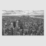 New York Skyline Rectangular Sticker