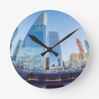 New York skyline Round Clock