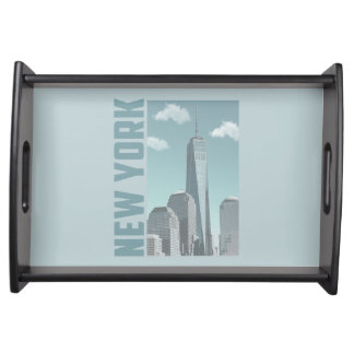 New York Skyline Serving Tray