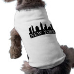 New York Skyline Sleeveless Dog Shirt
