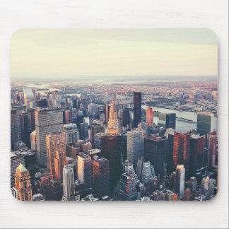 New York skyline sunrise Mouse Pads