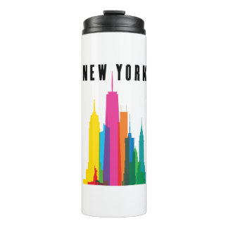 New York Skyline Thermal Tumbler