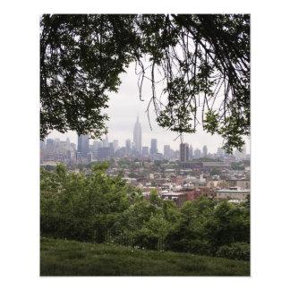 New York Skyline Through Trees Photographic Print