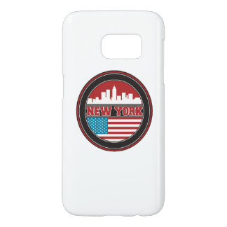New York Skyline | United States Flag