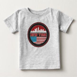 New York Skyline | United States Flag Baby T-Shirt