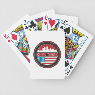 New York Skyline | United States Flag Bicycle Playing Cards