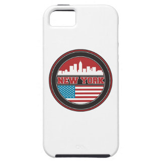 New York Skyline | United States Flag Case For The iPhone 5