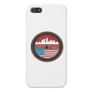 New York Skyline | United States Flag Cover For iPhone 5/5S
